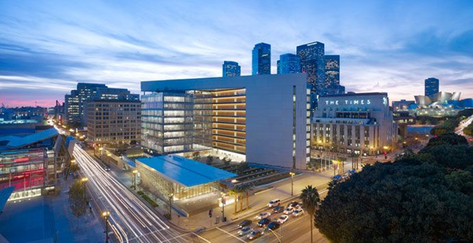 Aecom Architecture Los Angeles Police Department Lapd Headquarters Light Architecture Downtown Los Angeles Lighting Design