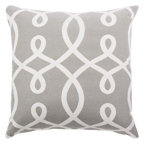 Light Grey And White Scroll Throw Pillow Throw Pillows Pillows