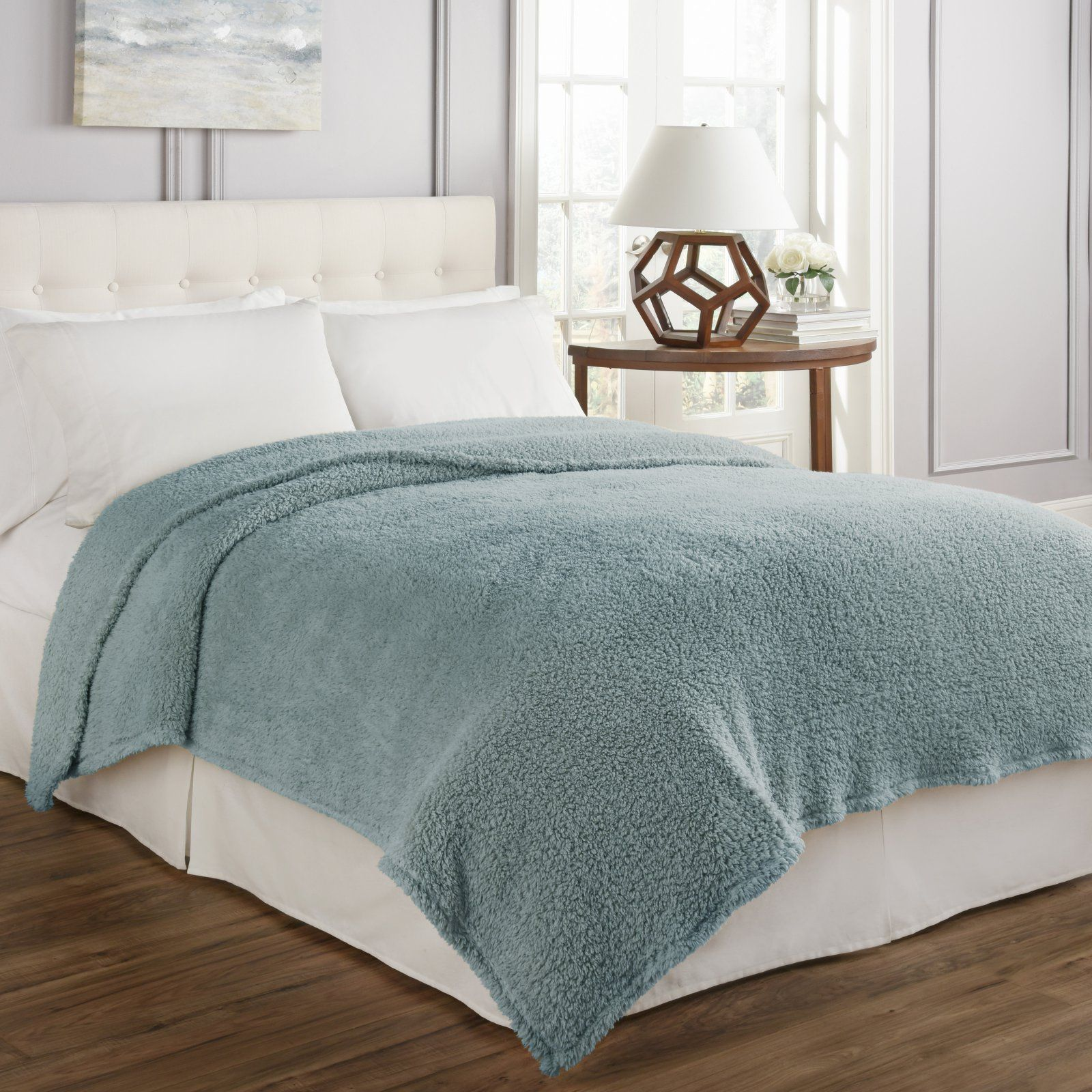 Cosette Ultra Soft Blanket By Beautyrest Robins Egg Blue In 2019