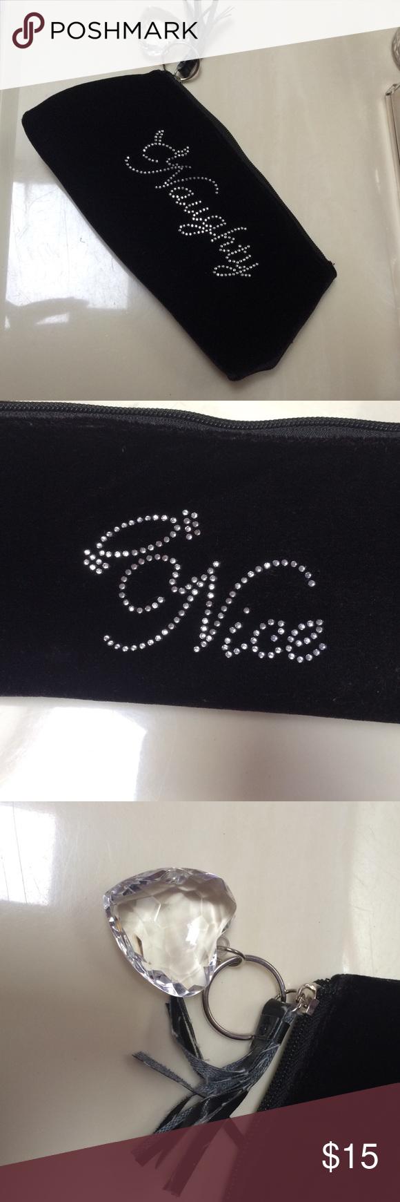 Naughty/Nice Cosmetic Bag Naughty/Nice Cosmetic Bag. Black