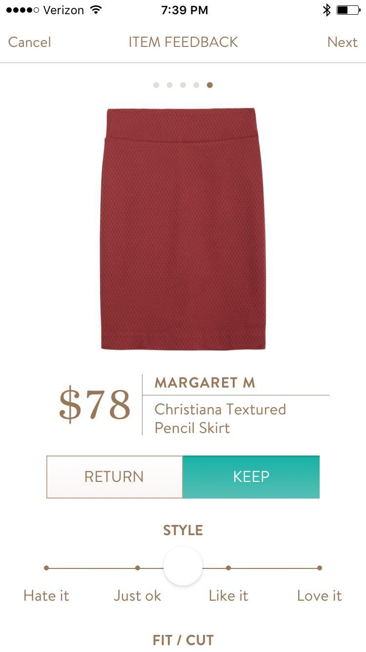 988a12112f Jul 2016 | Margaret M | Christiana Textured Pencil Skirt | My Stitch ...