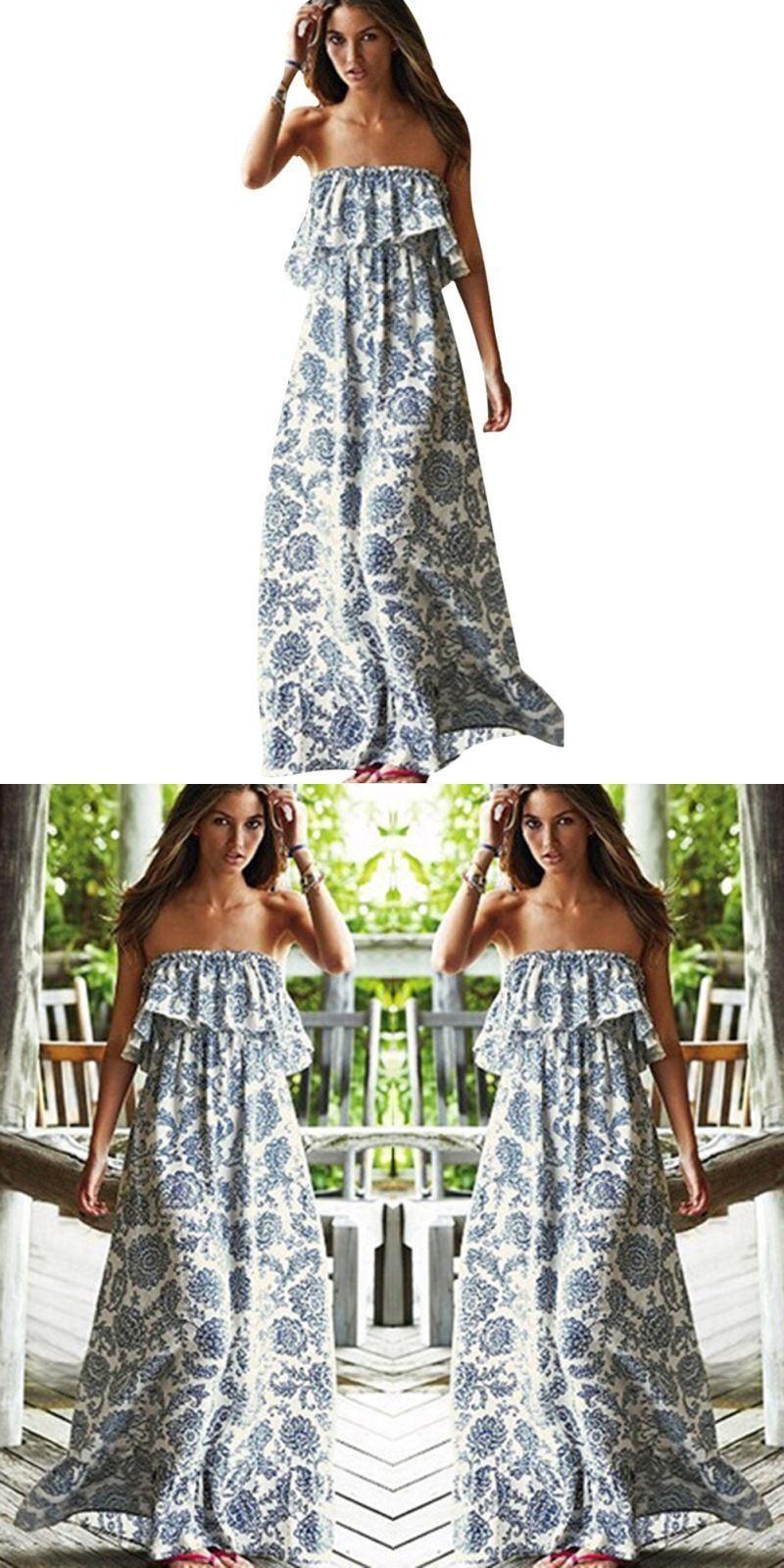 bb18f8401 New sexy off shoulder long maxi xl dress women boho evening beach sundress  vestidos shipping from