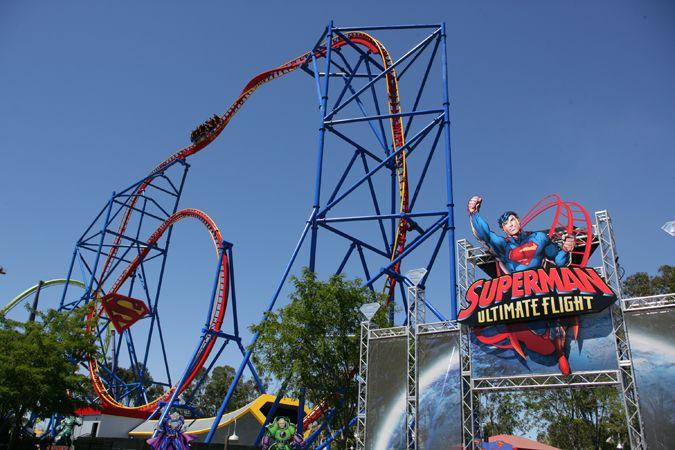 Superman Ultimate Flight Six Flags Discovery Kingdom Sacramento Ca Roller Coaster Roller Coaster Ride Biggest Roller Coaster