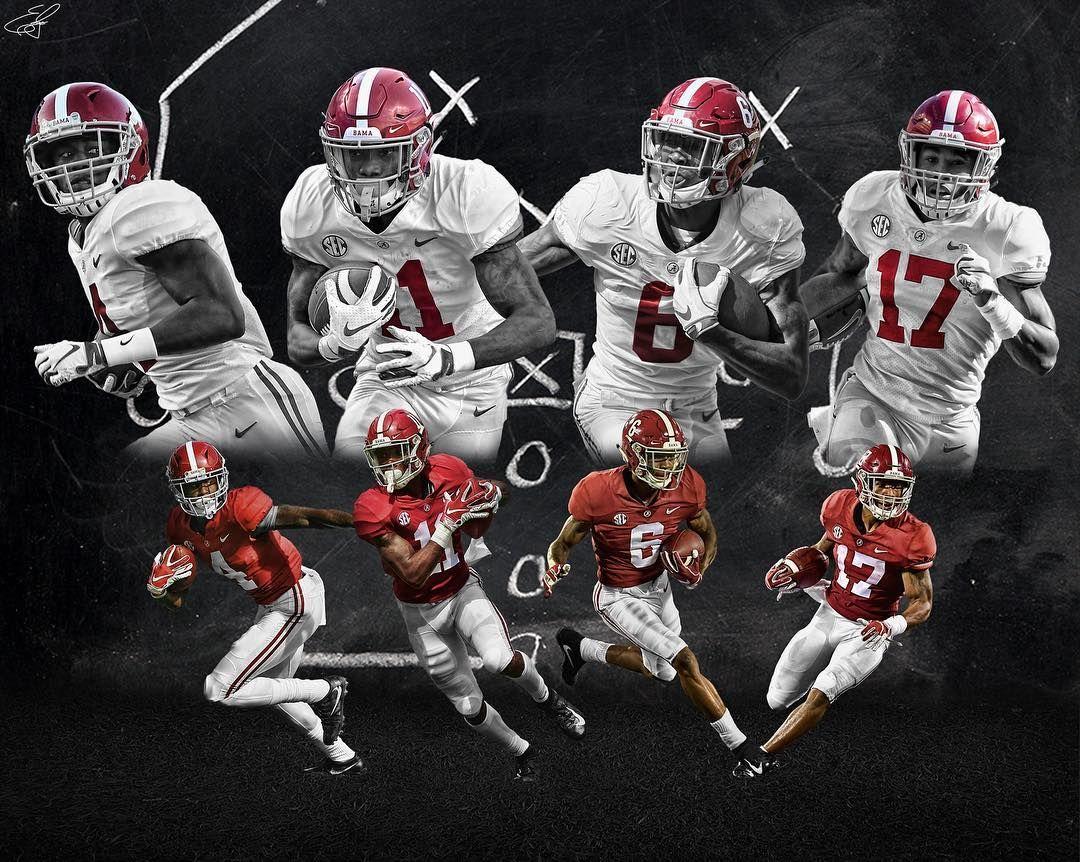 Jerry Jeudy 4 Devonta Smith 6 Jaylen Waddle 17 And Henry Ruggs Iii 11 Of The Alabama Crimson Tide Alabama Football Alabama Crimson Tide Ncaa Football