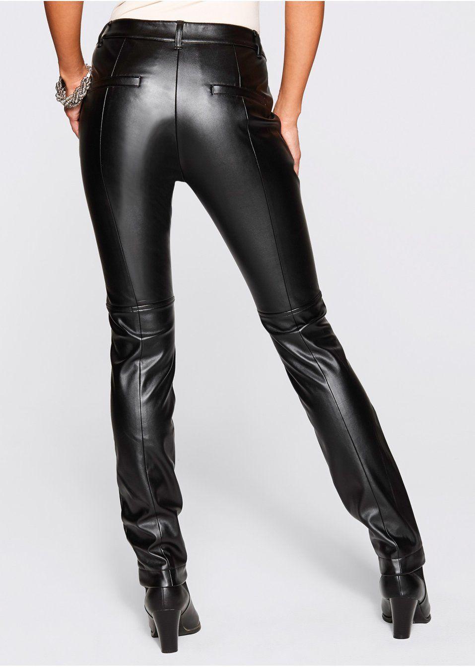 ada3fcf6411c Koženkové nohavice s nitmi Elegantné • 29.99 € • bonprix