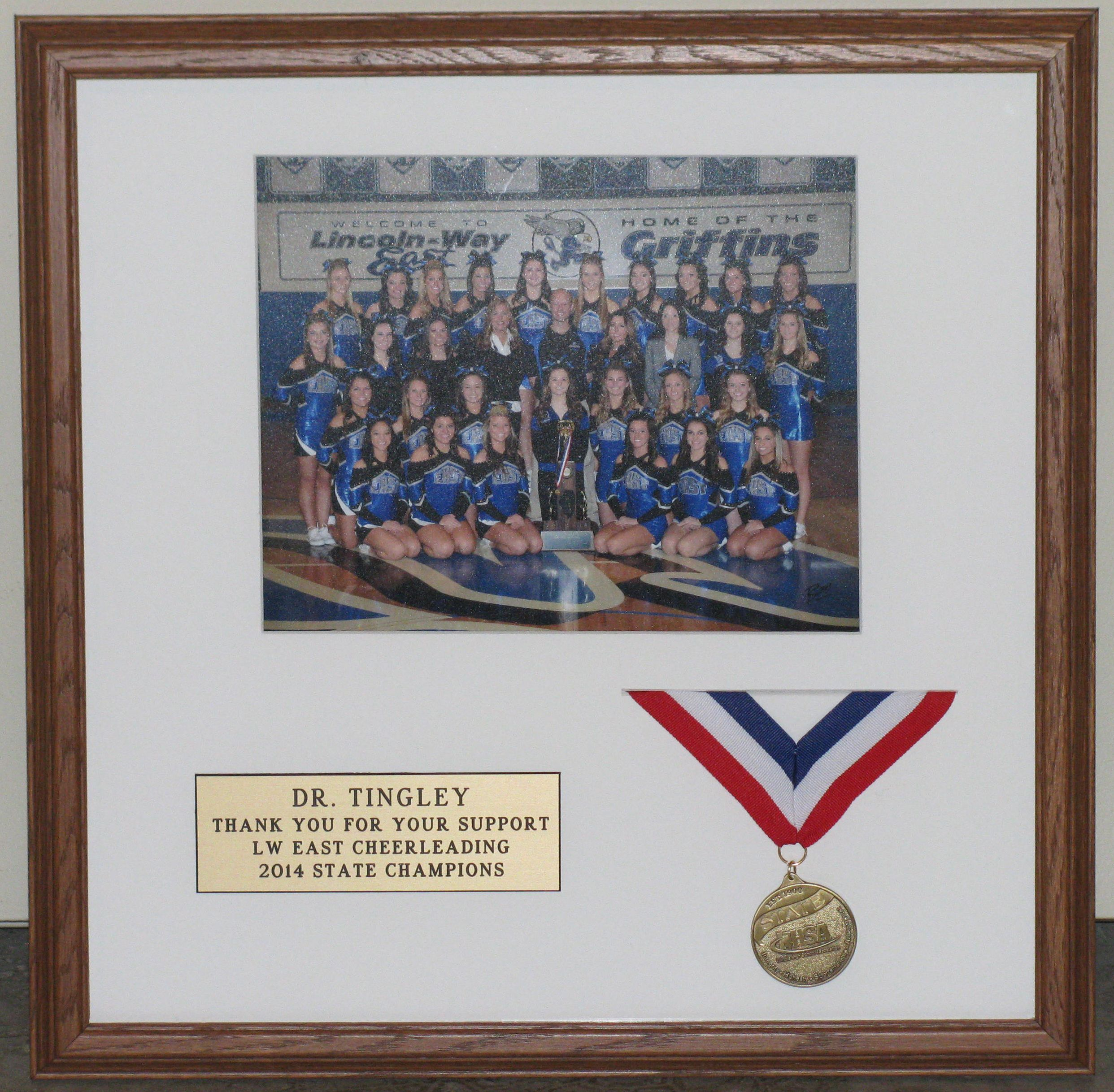 Lincolnway East state champion cheerleaders - framed by Custom ...