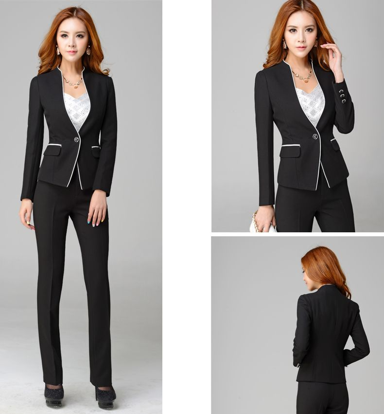 Korean Style High Class New Design Formal Office Suits For Women Wardrobe Pinterest
