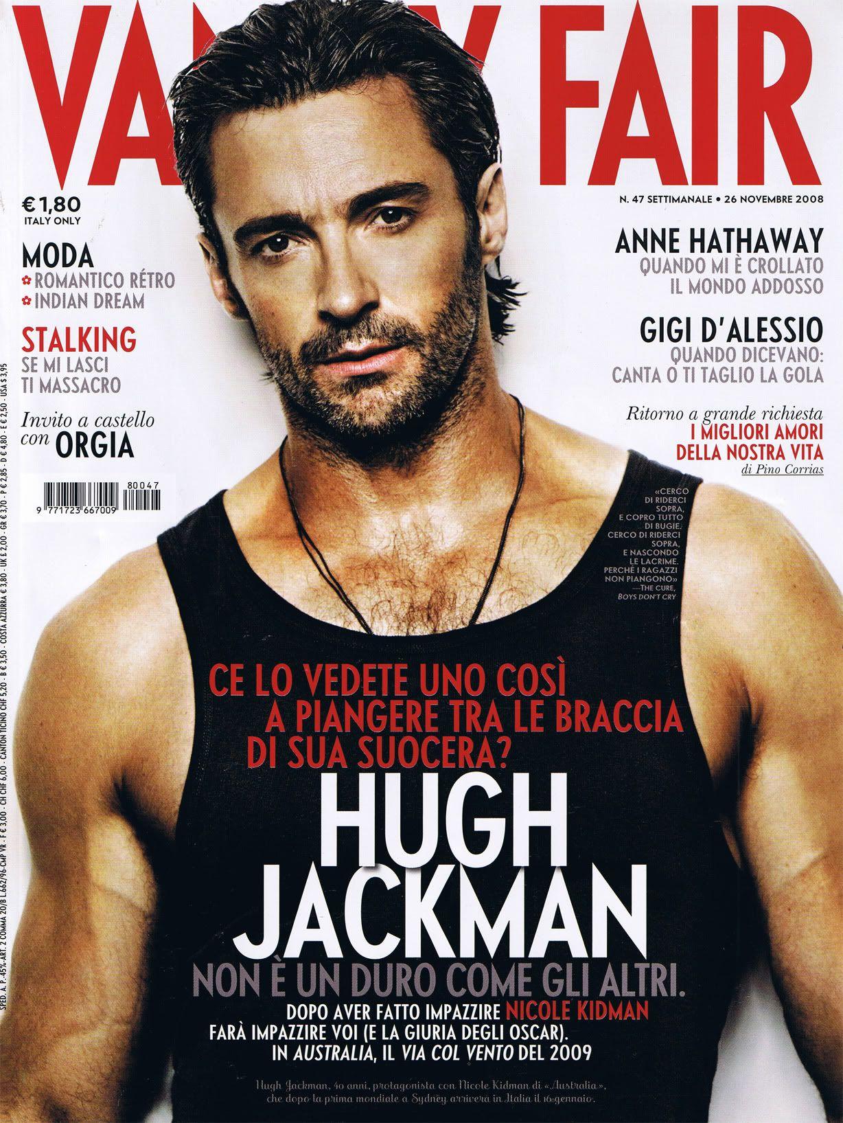 Hugh Jackman Vanity Fair Nov 2008 Con Imagenes Hugh Jackman Portadas De Revistas Hombres Hermosos