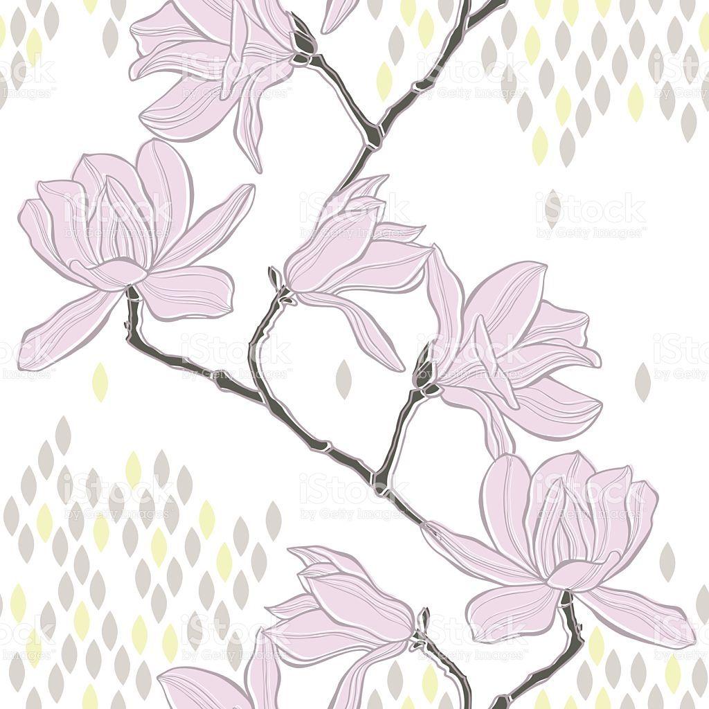 Nahtlose Hintergrund mit magnolia. Lizenzfreies vektor illustration