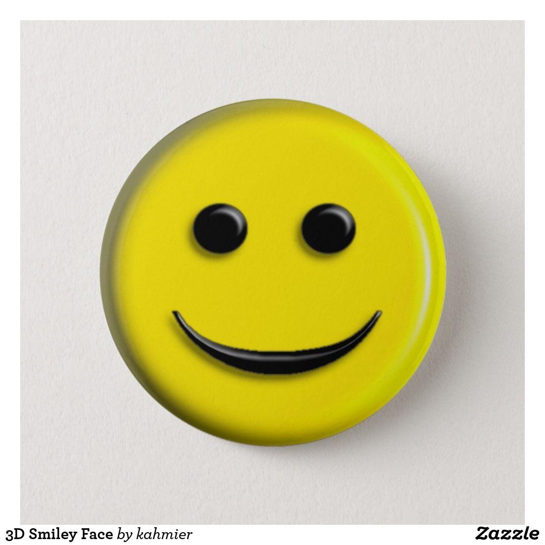 3d face pinback button | pinterest