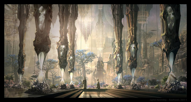 Jupiter Ascending , inside the Palace, Raphael Lacoste on ArtStation at https://www.artstation.com/artwork/jupiter-ascending-palace
