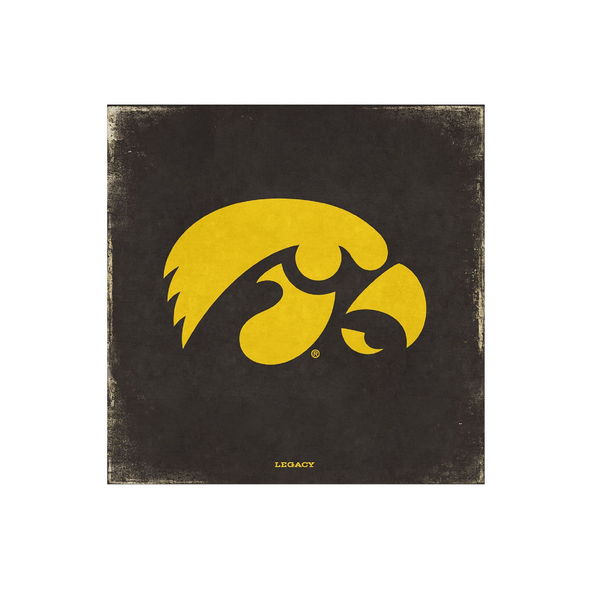 Legacy Athletic Iowa Hawkeyes Vintage Canvas Wall Art, Black ...