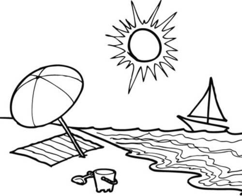 Kostenlose Malvorlagen Fur Den Sommer Kostenlose Malvorlage Sommer Sommertag Am Strand Zum Ausmalen Vorlagen Gambar