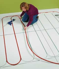 how to install radiant heat in floors at the home depot | basement