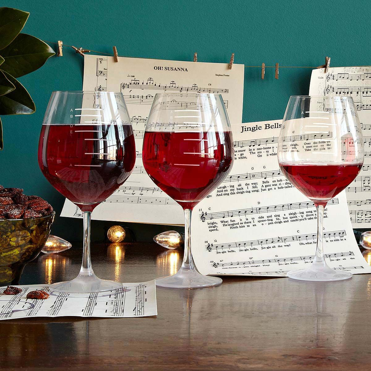 Major Scale Musical Wine Glasses Party Set Etched Wine Glasses Music Etched Wine Glasses Wine Wine Glasses