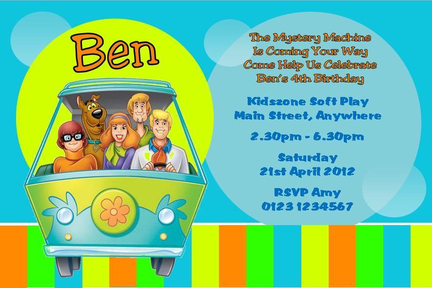 Scooby Doo Birthday Party Invitations Fiesta Scooby Doo