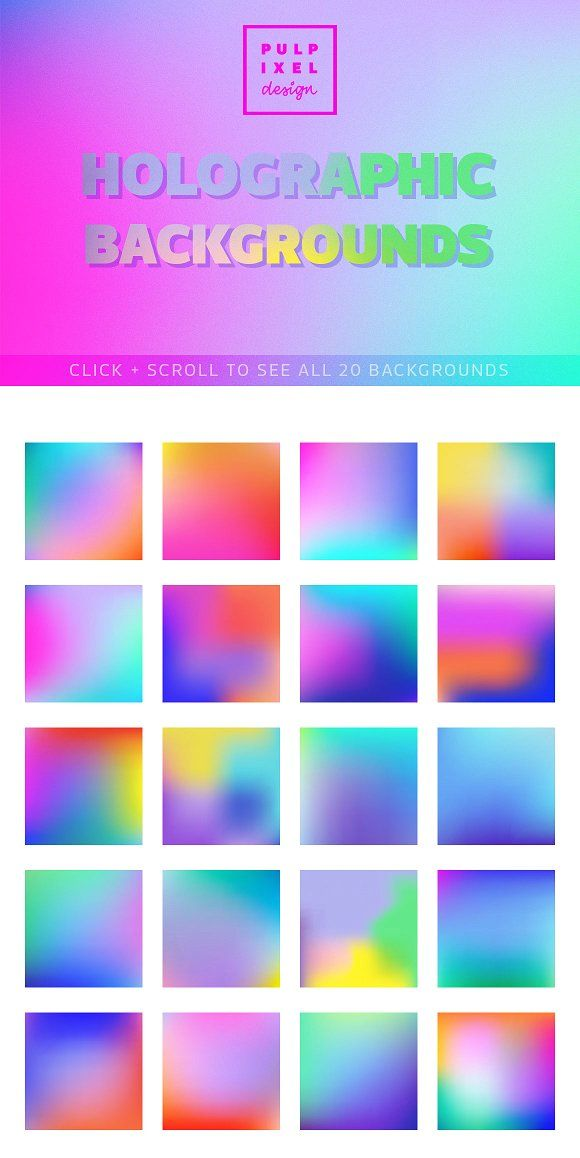 Holographic Gradient Backgrounds Holographic Holographic Background Gradient Background