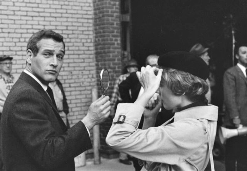 "Paul Newman e Julie Andrews sul set - ""Il sipario strappato"" (Torn curtain), 1966"