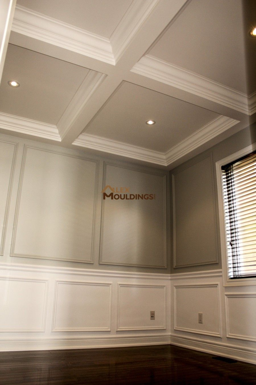 Waffle Ceiling together with wainscotings and wall trim | Trim ...