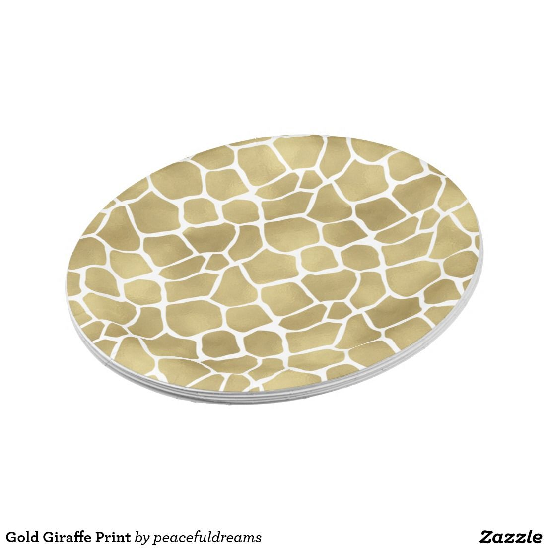 Shop Gold Giraffe Print Paper Plate created by peacefuldreams.  sc 1 st  Pinterest & Gold Giraffe Print 7 Inch Paper Plate | Plates | Pinterest | Giraffe