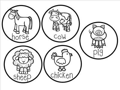 Farm freebie old macdonald stick puppets from for Old macdonald coloring pages