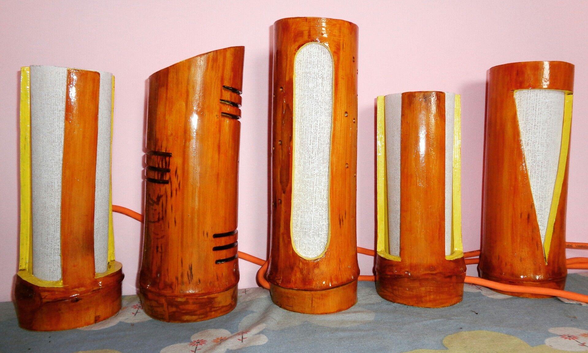 Handmade bamboo lights...