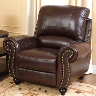 Abbyson Living Madison Premium Top Grain Leather Pushback Recliner |  Overstock.com Shopping