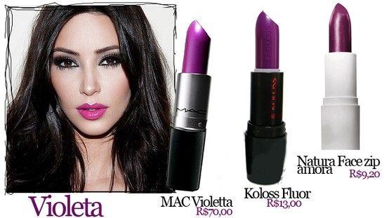 Violeta é uma das cores para o inverno!