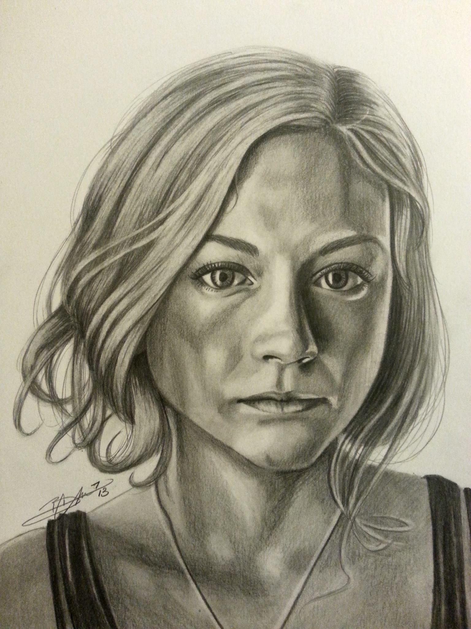 Wa walking dead pumpkin stencil - Beth Greene Walking Dead