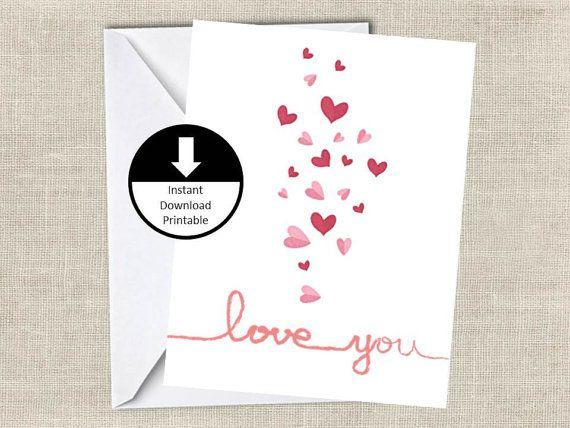 printable love card simple card love you