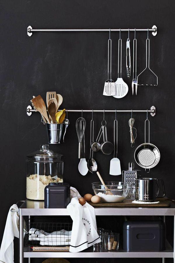 Shiny Cutlery - Black Wall