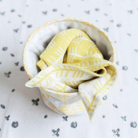 Roomblush • Babydekentje Feathers yellow