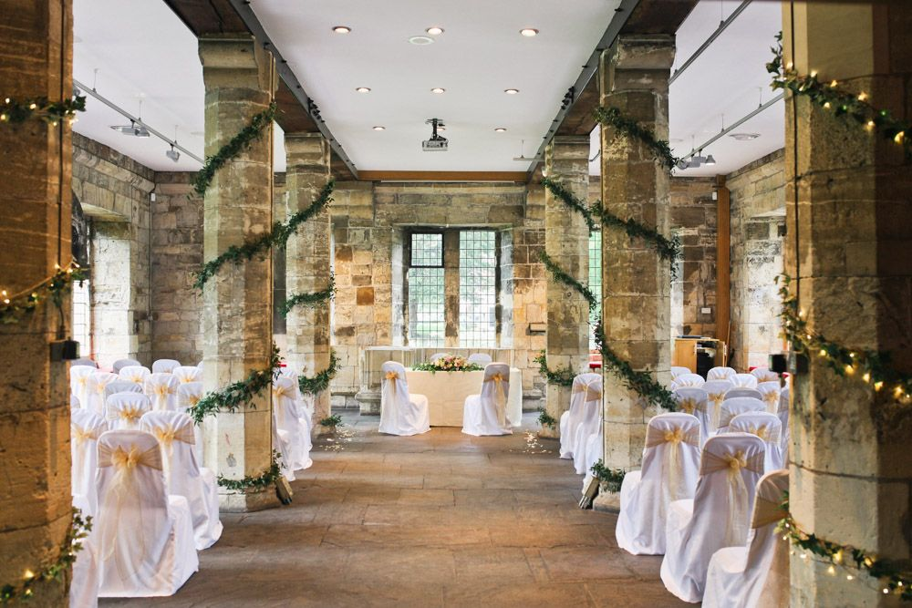 budget wedding venues north yorkshire%0A Weddings    Decorated pillars at the Hospitium York for Suzanne and Mike