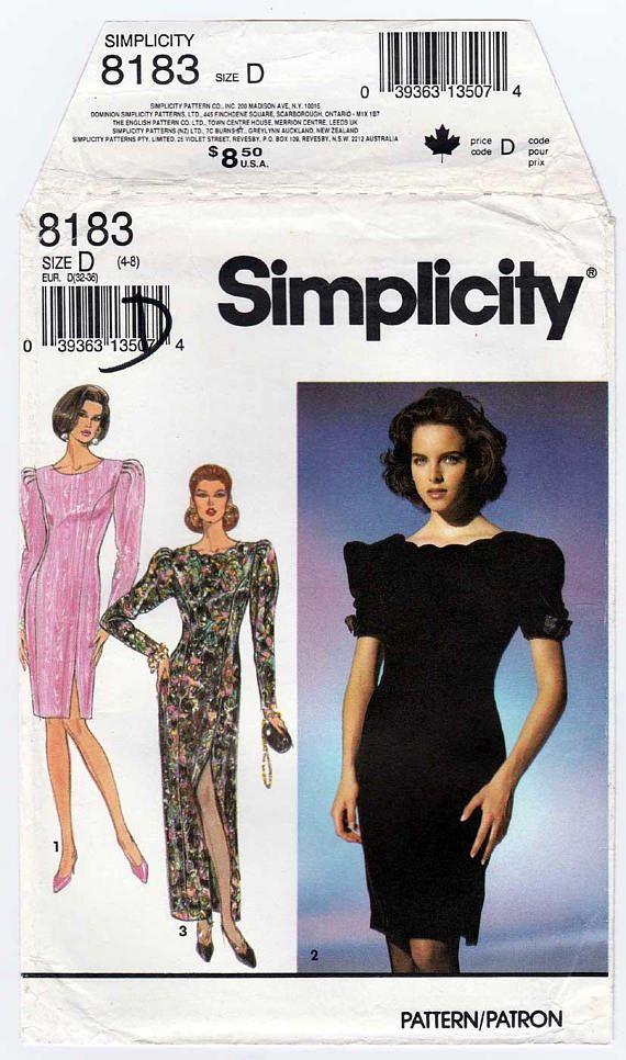 Women\'s Party Dress Sewing Pattern Formal Wear Evening | put me in ...