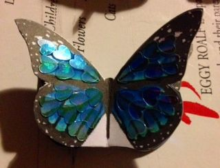 New mini blue butterfly