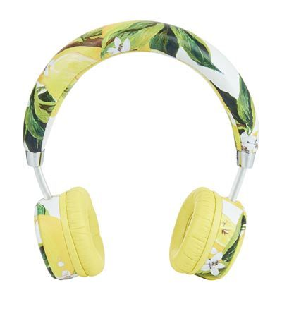 Dolce & Gabbana Lemon Print Headphones available to buy at Harrods. Shop…