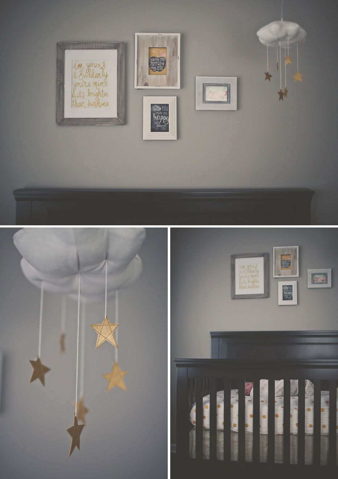 You Are My Sunshine Themed Nursery With Starry Cloud Mobile