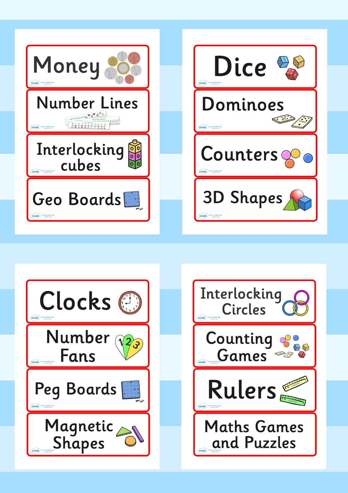 Twinkl Resources Editable Maths Area Resource Labels Red