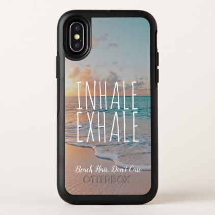 Inhale Exhale Sandy Beach Scene Tropical Sunrise OtterBox iPhone Case | Zazzle.com