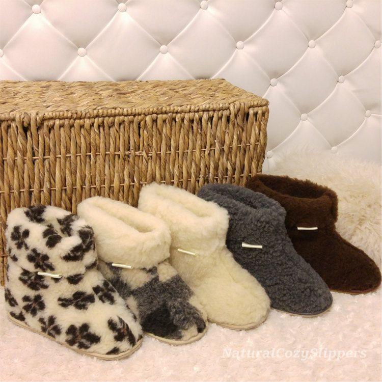 Kids Fur Slippers100/% Natural SheepskinBaby Winter Socks Wool Boots