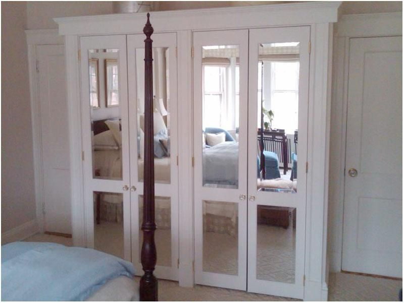 Frameless Mirror Sliding Closet Doors Mirrored French Closet Doors For Bedroom Mirror Closet