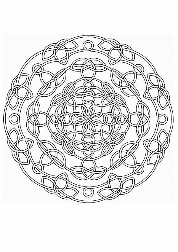 Mandala 086 | mandalas para pintar | Pinterest | Mandalas, Colores ...