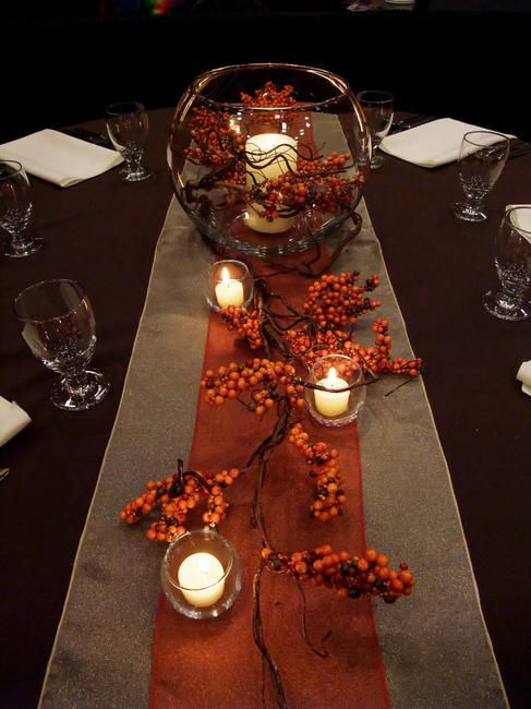 Orange Table Runner   Elite Events Rental