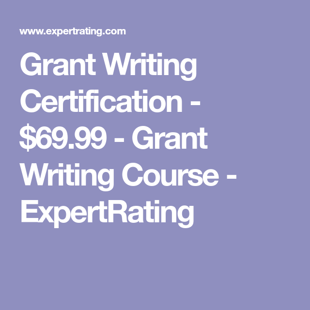 grant writing expertrating certification course certificate courses
