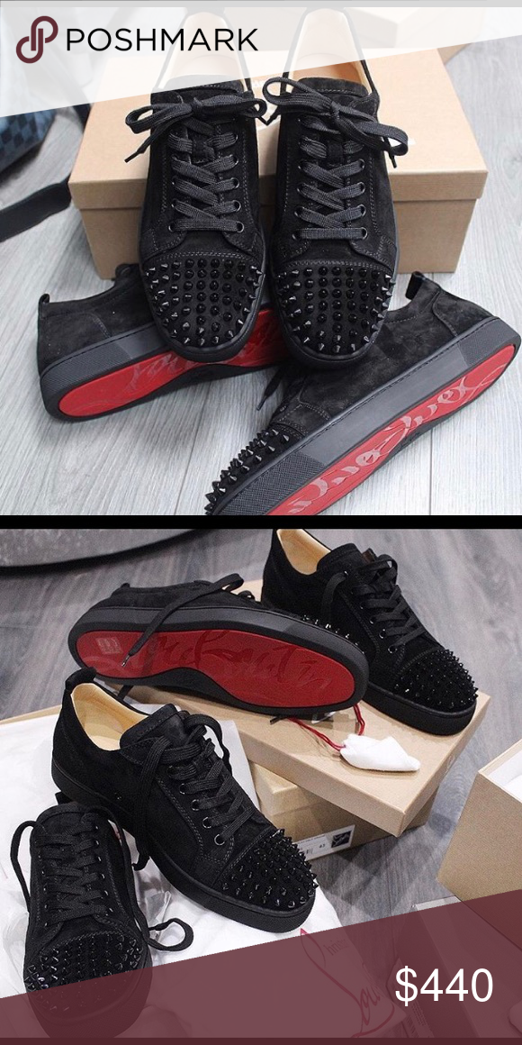 ⚫ ⚫️Christian Louboutin Junior Low black⚫ 100%AUTHENTIC👈👈👈 98271c1289
