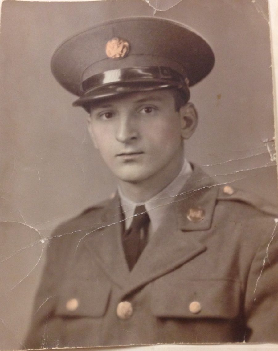 WWII photo of my Great Grandfather, Anthony Amarante. I will be restoring this hand-colored print in Photoshop for my Grandmother. I will publish the finished print when I am done!
