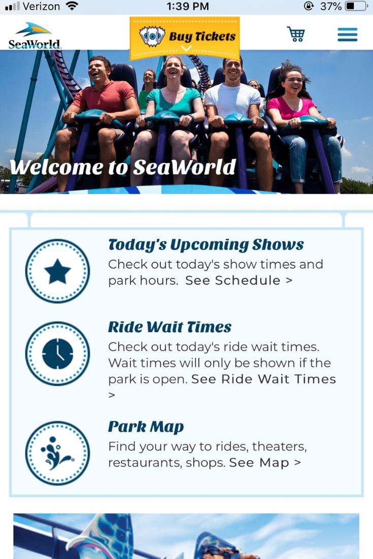 Seaworld App And Map Sea World Seaworld Orlando Buy Tickets