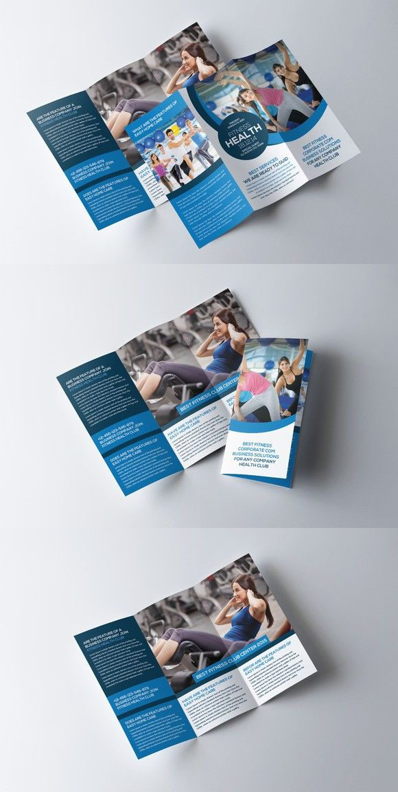 Fitness And Gym TriFold Brochure  Brochure Templates