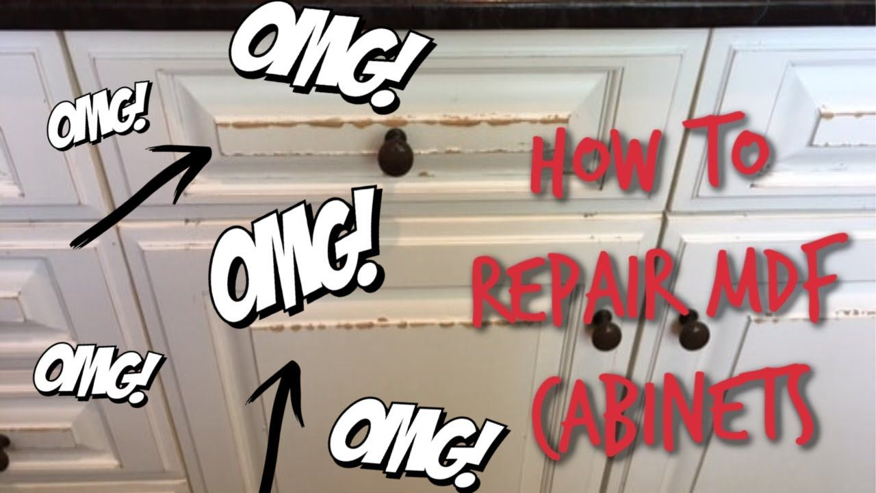 How To Repair Water Damaged MDF Cabinets |#mdfcabinets # ...