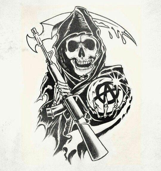 Contribute To The Best Show Ever A Future Sons Of Anarchy Tattoo Tatuagem De Motos Ideias De Tatuagens Tatuagem Na Perna